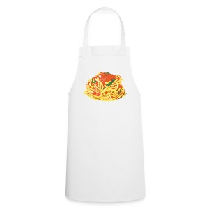 Spaghetti on white apron - Cooking Apron