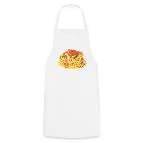 Spaghetti on white apron - Cooking Apron
