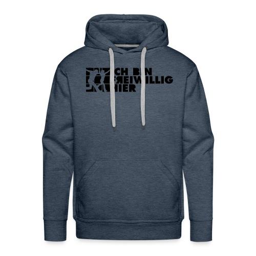 Männer Hoodie (farbig) 2-seitiger, schwarzer Druck - Männer Premium Hoodie