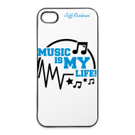 Hoesjes voor mobiele telefoons & tablets ~ iPhone 4/4s hard case ~ I-phone 4/4S cover: Jeff Residenza - Music is my life