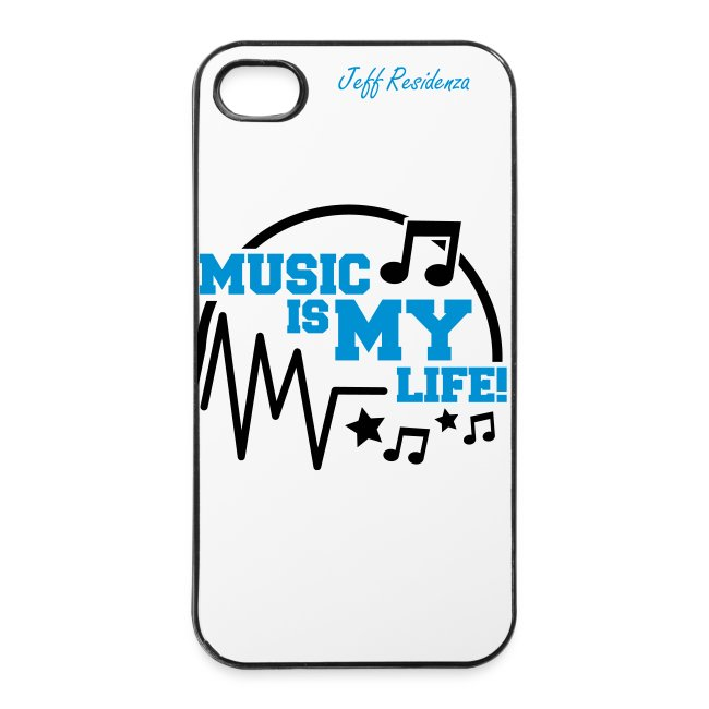 I-phone 4/4S cover: Jeff Residenza - Music is my life