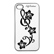 Hoesjes voor mobiele telefoons & tablets ~ iPhone 4/4s hard case ~ I-phone 4/4S cover: Jeff Residenza - Music flower