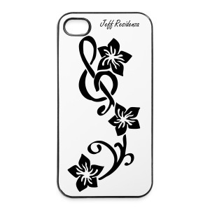 I-phone 4/4S cover: Jeff Residenza - Music flower - iPhone 4/4s hard case