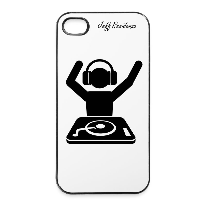 I-phone 4/4S cover: Jeff Residenza - DJ - iPhone 4/4s hard case