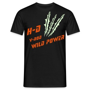 H-D V-Rod Wild Power| T-shirts harley biker - T-shirt Homme