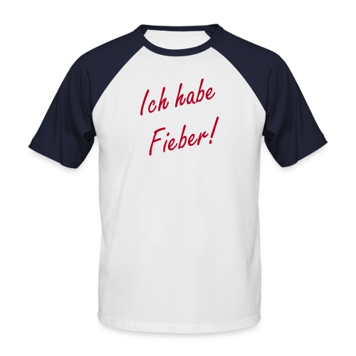 Shirt Rote Ärmel - Männer Baseball-T-Shirt