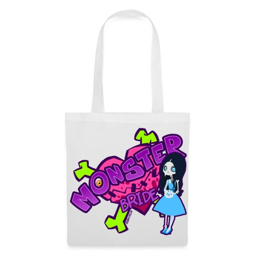 Mrs. Skeleton Fangs bag - Stoffbeutel