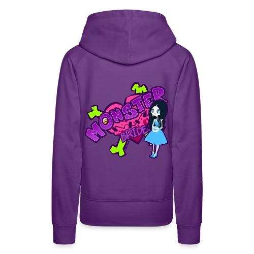 Mrs. Skeleton Fangs girl hoodie - Frauen Premium Hoodie