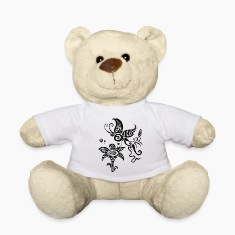 Black and white tribal butterfly Teddies