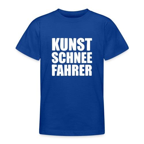 Kunstschneefahrer - Teenager T-Shirt