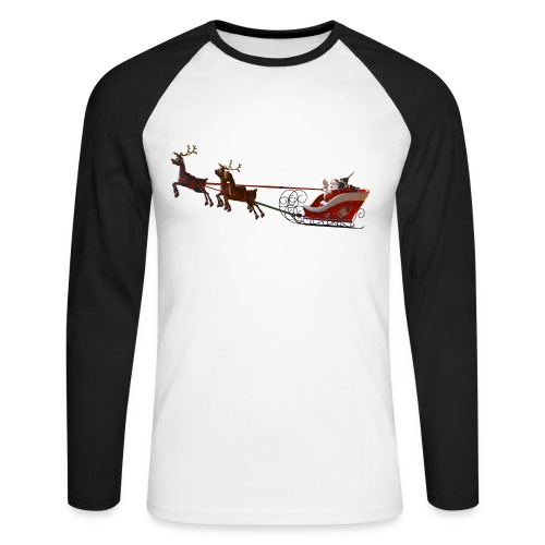 Santa Claus is coming - Männer Baseballshirt langarm