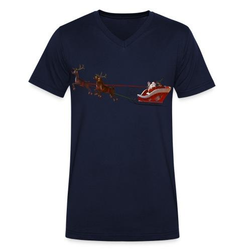 Santa Claus is coming - Männer Bio-T-Shirt mit V-Ausschnitt von Stanley & Stella