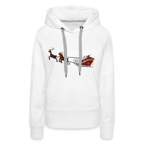 Santa Claus is coming - Frauen Premium Hoodie