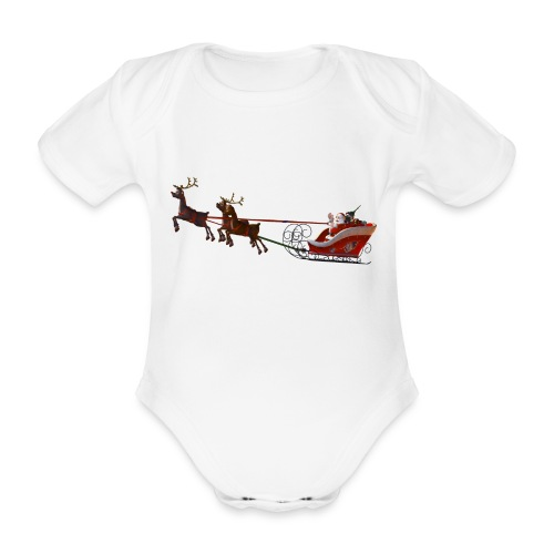 Santa Claus is coming - Baby Bio-Kurzarm-Body