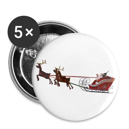 Santa Claus is coming - Buttons groß 56 mm (5er Pack)