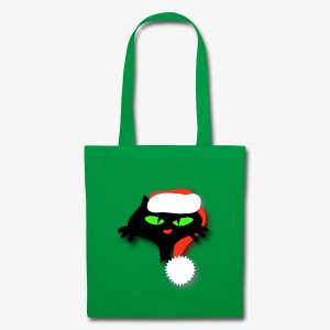 Silly Christmas Cat - Tote Bag