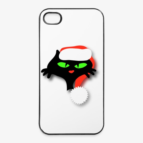 Silly Christmas Cat - iPhone 4/4s Hard Case