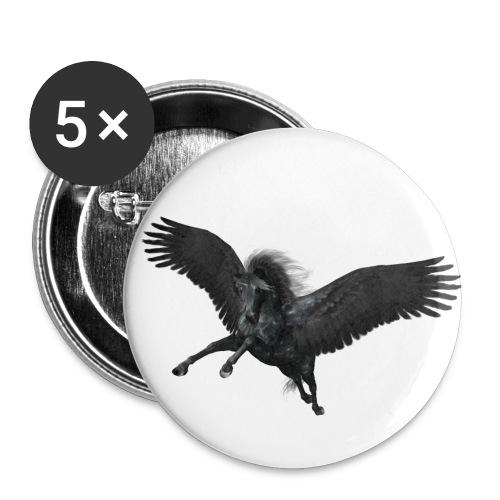 black Pegasus - Buttons mittel 32 mm (5er Pack)