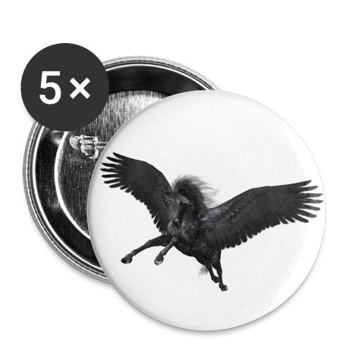 black Pegasus - Buttons groß 56 mm (5er Pack)