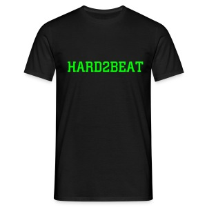 black tee hard2beat neon green print - Men's T-Shirt