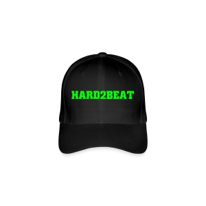 black cap hard2beat neon green print - Flexfit Baseball Cap