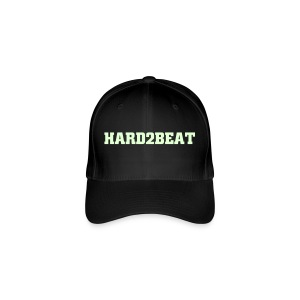 black cap hard2beat glow print - Flexfit Baseball Cap