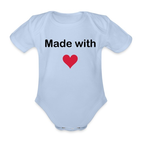 Made w Love pink - Baby Bio-Kurzarm-Body