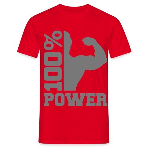 100% Power - Männer T-Shirt