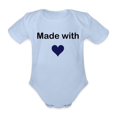Made w Love blue - Baby Bio-Kurzarm-Body