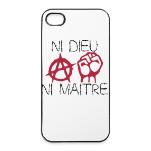 coque  ni dieu ni maitre - Coque rigide iPhone 4/4s