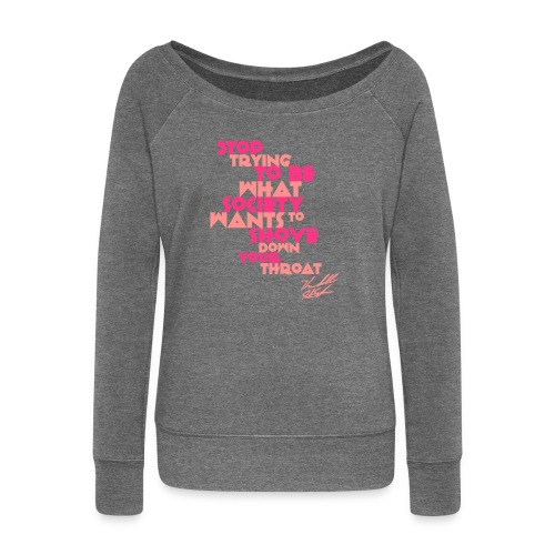 STOP TRYING W SIG - Women's Boat Neck Long Sleeve Top