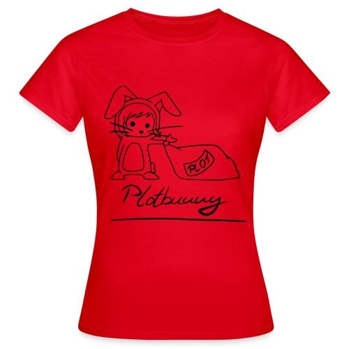 Motiv: Plotbunny 1 | Druck: schwarz | verschiedene Farben - Frauen T-Shirt