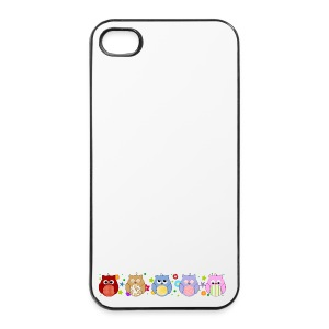 Cute Owls and flowers - iPhone 4/4s Hard Case