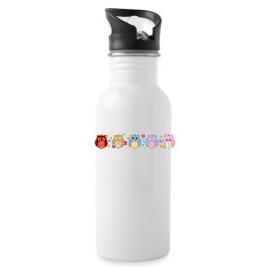 Cute Owls and flowers - Water Bottle