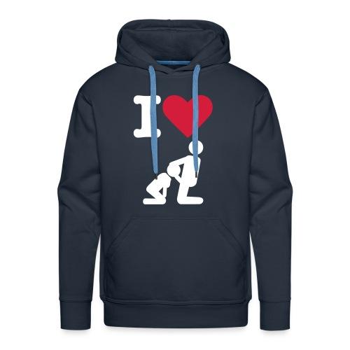 Mannen Sweater 'I Love Blowjob' (MadeByRoy) - Mannen Premium hoodie