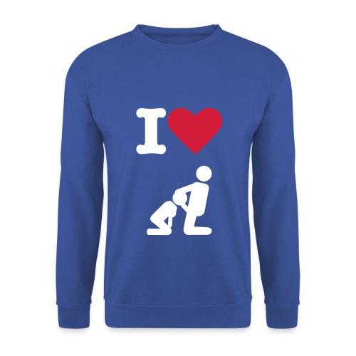 Mannen Crewneck 'I Love Blowjob'(MadeByRoy) - Mannen sweater
