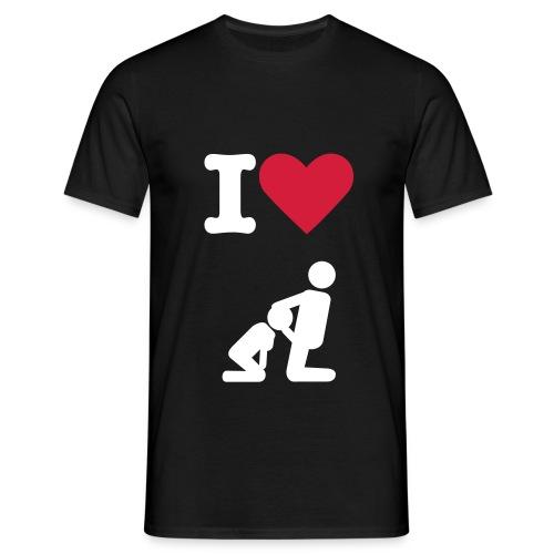 Mannen Shirt 'I Love Blowjob' (MadeByRoy) - Mannen T-shirt