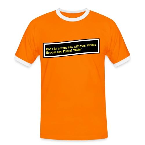 Puppet Master Orange - Men's Ringer Shirt