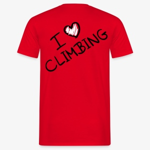 I love climbing (men) - Männer T-Shirt