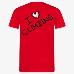 I love climbing (men) - Männer T-Shirt