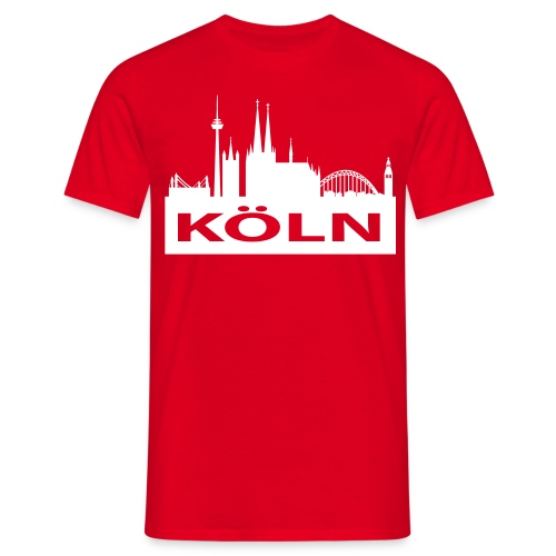 Kölner Skyline - Kölner Dom - Männer T-Shirt klassisch - Männer T-Shirt