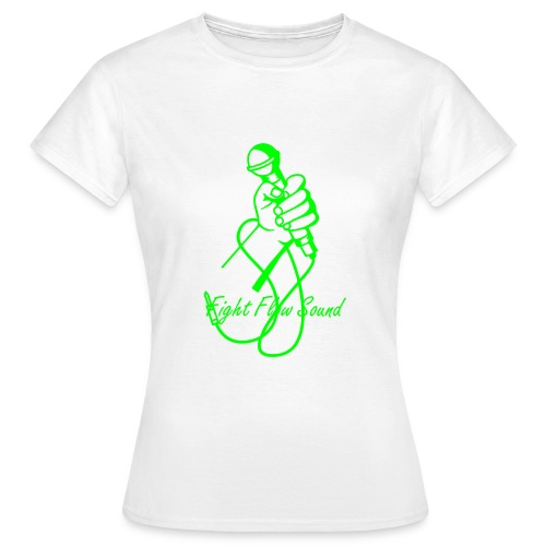 Fight Flow Sound Girl - Frauen T-Shirt