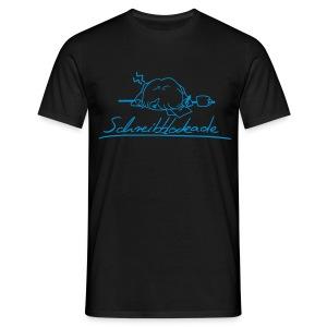 Motiv: Schreibblockade   Druck: hellblau   verschiedene Farben - Männer T-Shirt