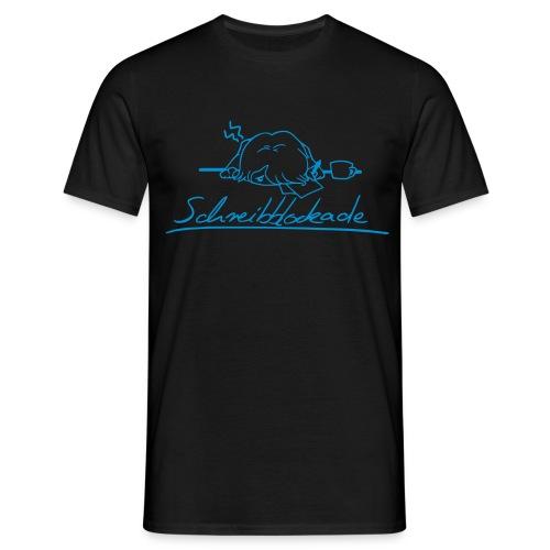Motiv: Schreibblockade | Druck: hellblau | verschiedene Farben - Männer T-Shirt