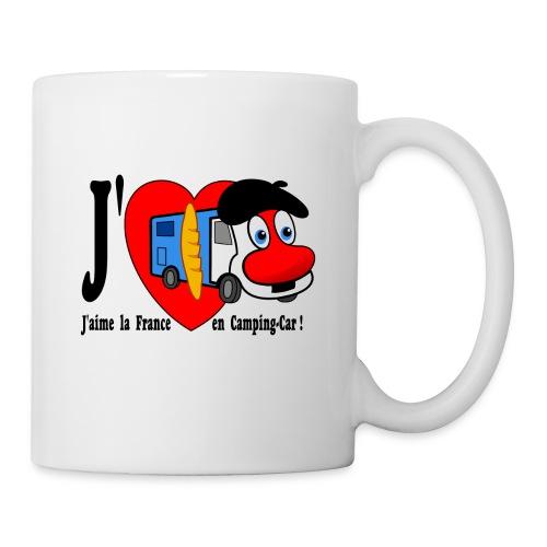 Tasse J'aime la France en Camping-Car  - Mug blanc