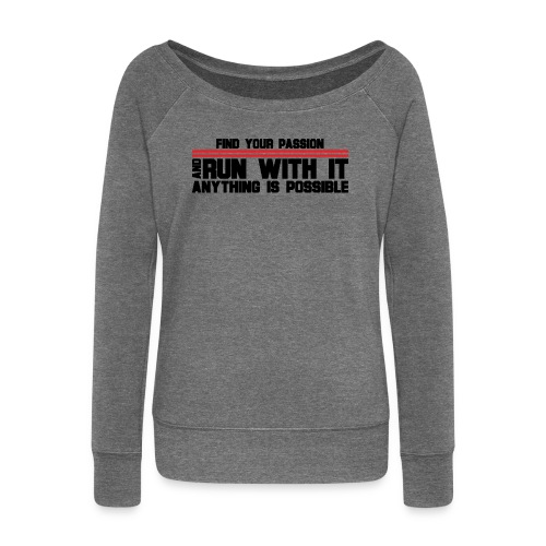 RUN WITH IT - Women's Boat Neck Long Sleeve Top
