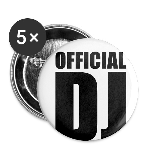 Official DJ Buttons - Liten pin 25 mm (5-er pakke)