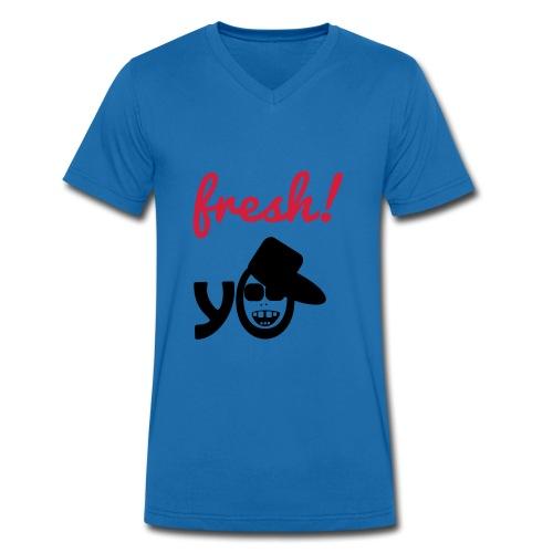 Fresh Yeah V (Man V Shirt) - Mannen bio T-shirt met V-hals van Stanley & Stella