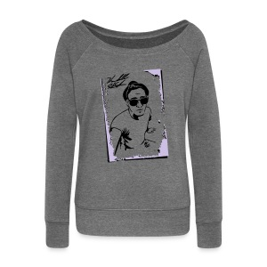 PORTRAIT W SIG - Women's Boat Neck Long Sleeve Top