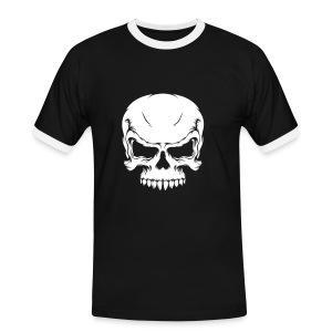T-Shirt   Skull - Mannen contrastshirt